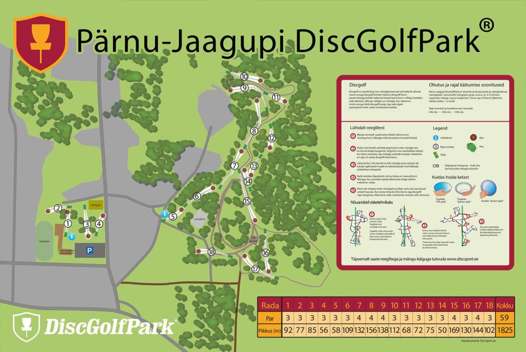Discgolfi rajakaart